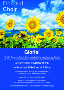 froxfield choir gloria poster:Layout 3