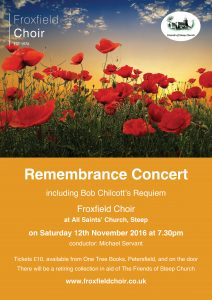 froxfield choir remembrance poster:Layout 3