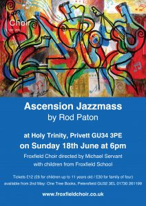 froxfield choir ascension jazz poster:Layout 3